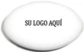 pelota de rugby con logo