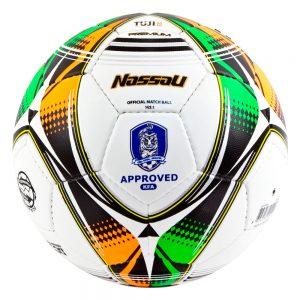 PELOTA DE FUTBOL NASSAU TUJI PREMIUM N°5 (FIFA Y KFA APPROVED)
